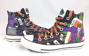 e9f4c0d2bd58f9 ... Converse Painted Shoes t. Image is loading Converse-All-Star-High-Tops- Batman-amp-Joker-