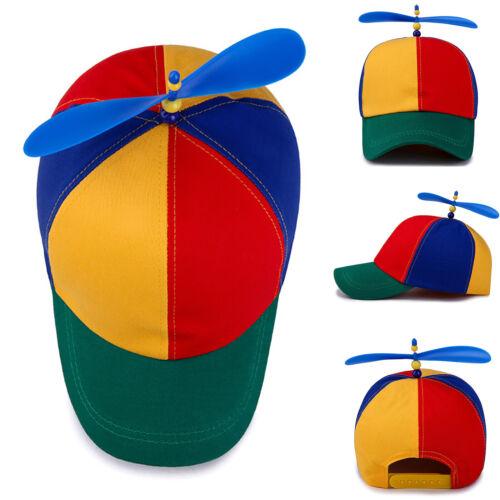 Boys Girl Kid Baseball Cap Adjustable Snapback Summer Sun Hat Windmill Peaked R1