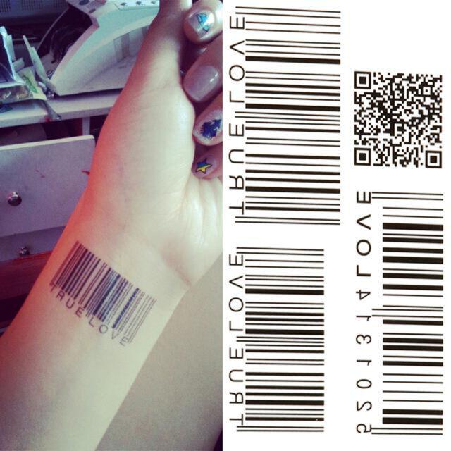 Water Transfer Barcode Waterproof Temporary Tattoo Sticker Body Art Produ$T