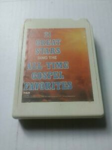 """21 Great Stars Sing the All-Time Gospel Favorites"" 1979 8-Track Tape Cartridge"