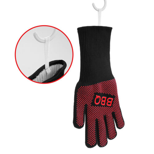 1pcs Hot 932°F BBQ Gloves Fireproof Cooking Oven Grilling Silicone Kitchen Mitts