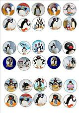 PINGU EDIBLE WAFER RICE PAPER BIRTHDAY PARTY FAIRY CUPCAKE CAKE TOPPERS X 30