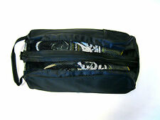 "BLACK SHOE BAG ""NUOVO"" per Golf, Calcio, Bocce, Atletica / Rugby / Cricket ETC"