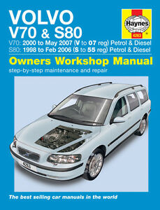 haynes manual volvo v70 s80 series 1998 2007 new 4263 ebay rh ebay com 2000 volvo v70 manual 2000 volvo v40 manual pdf