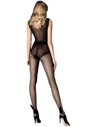 Women/'s 20 Denier Bikini Brief Tights Classic Sheer Black Pantyhose Fiore Cha