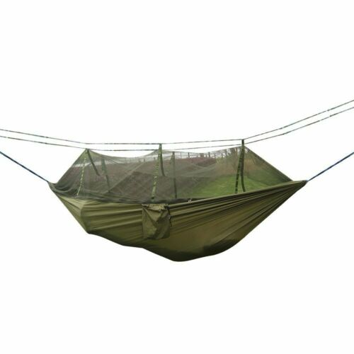 Portable Outdoor Hammock Yard Camping Hanging Bed With Mosquito Net Lightweight