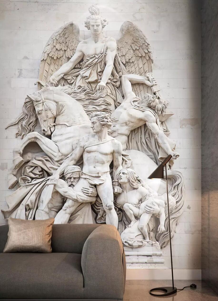 3D Grau Characters Statue 2 Wallpaper Mural Print Wall Indoor Wallpaper Mural UK