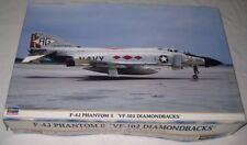 F-4J Phantom II VF-102 Diamondbacks Hasegawa 1/48 Plastic model Kit Complete