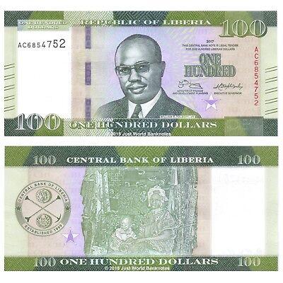 UNC P-30f Liberia 100 Dollars 2011