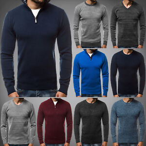 OZONEE-Herren-Strickpullover-Langarmshirt-Sweatshirt-Pulli-Cardigan-7879-MIX
