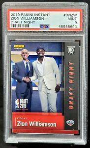 2019-Draft-Night-RC-Pelicans-ZION-WILLIAMSON-Rookie-Basketball-Card-PSA-9-MINT