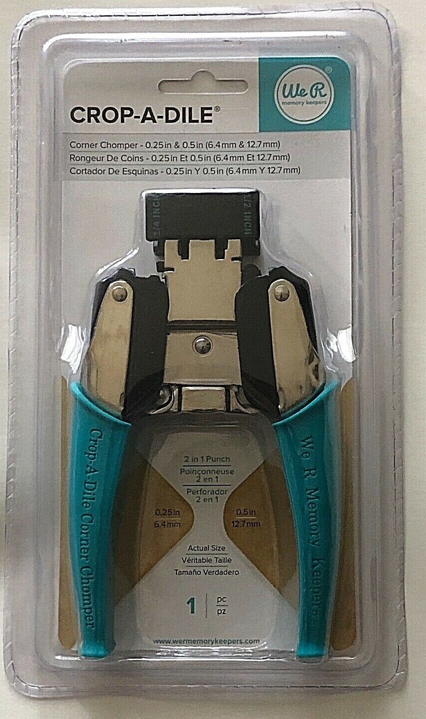 Aqua We R Memory Keepers Crop-A-Dile Corner Chomper Carrying Case