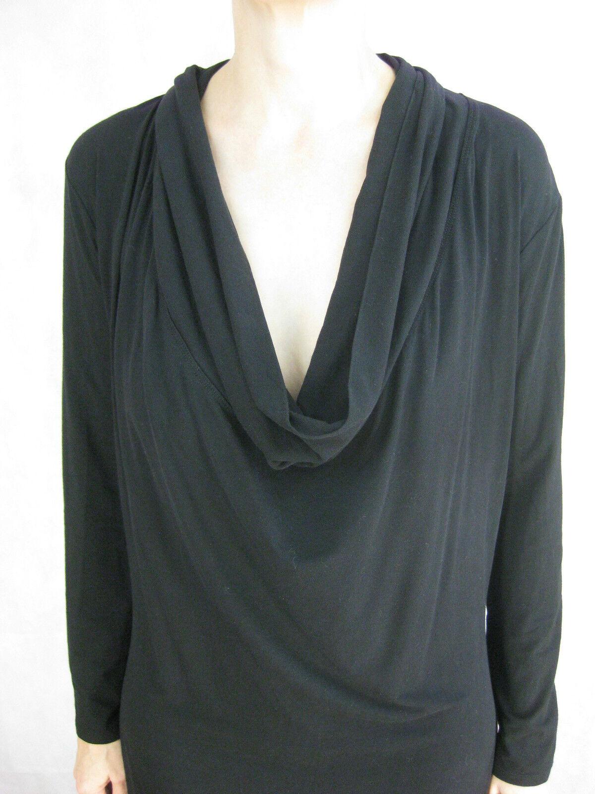 Mela Purdie Größe 10 schwarz Tunic Designer Dress