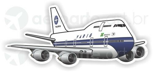 Boeing 747-300 Varig aircraft sticker