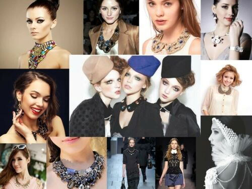 Hand-Knitted False Collar Crackle Stone Tassel Double Rope Ethnic Women Necklace