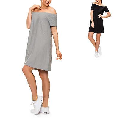 Analitico Pieces Donna Vestito Con Off Shoulder Scollo Jersey Vestito Abito Carmen Con Print-mostra Il Titolo Originale