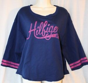 Casual Sweat Sleep Lounge Night Top Shirt XL Tommy Hilfiger Varsity pajama