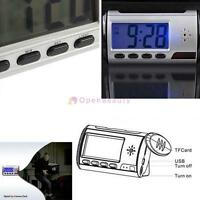 Digital Clock Hidden Camera Alarm Spy DVR/USB Motion Alarm Recorder Camcorder JS