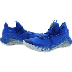 Under-Armour-Curry-6-Men-039-s-Sz-16-Team-Basketball-Shoes-3020612-Blues-White