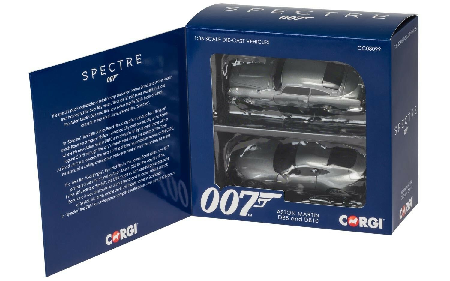 Corgi CC08099 James Bond Aston Mkonstin DB5 & DB10 Spectre 1 36 skala New & lådaed