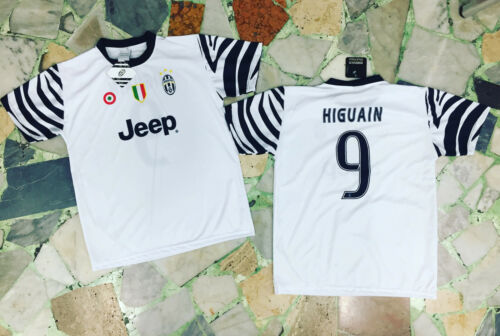 1 MAGLIA FC JUVENTUS HIGUAIN UFFICIALE BIANCA THIRD ZEBRATA JUVE  2017 SOTTOCOST