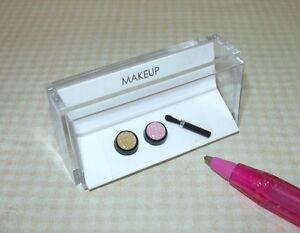 Miniature-Amazing-Makeup-Blush-Bronzer-Compacts-w-Bristled-Brush-DOLLHOUSE-1-12
