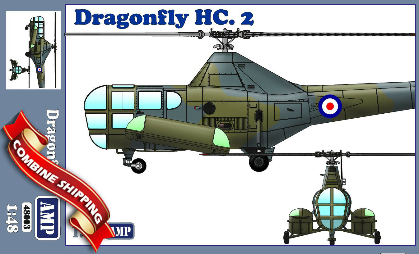 AMP 48003 Helicopter Westland WS-51 Dragonfly HC.2 Rescue plastic model kit 1 48