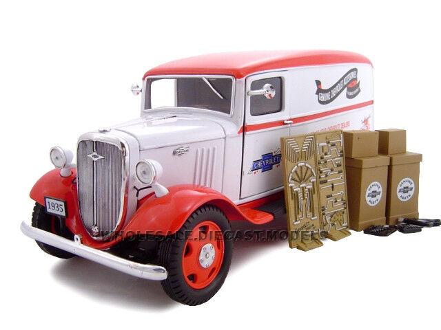 barato en alta calidad 1935 Chevrolet Delivery Van Van Van W accessories 1 24 Auto Modelo único réplicas 18620  ¡no ser extrañado!