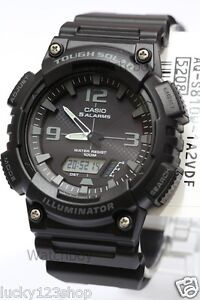 AQ-S810W-1A2-Black-Casio-Men-039-s-Watch-Tough-Solar-5-Alarms-Analog-Digital-Resin