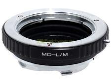 Anello adapter x montare ottiche Minolta MD su corpi Leica M. Adattatore. ALM.