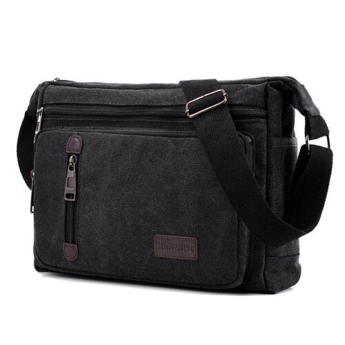 Mens Messenger Travel Hiking Crossbody Canvas Backpack Rucksack Shoulder Bags UK