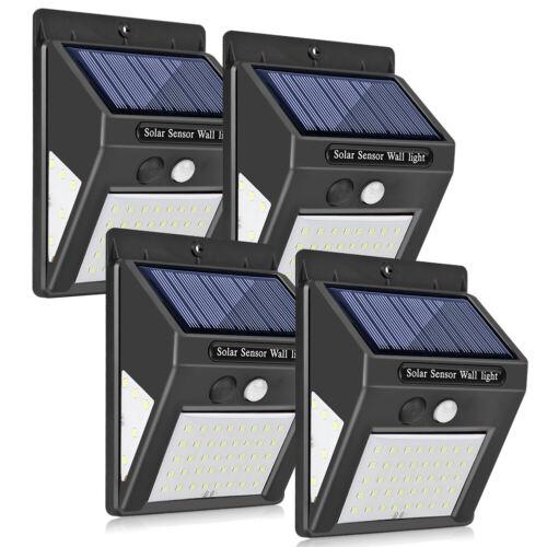 1-4x LED Solar Lamp Outdoor Garden Yard Waterproof PIR Motion Sensor Wall Light