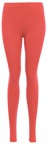 NEW PLUS SIZE WOMENS LADIES FULL LENGTH STRETCH PLAIN LEGGINGS SIZES 8-30