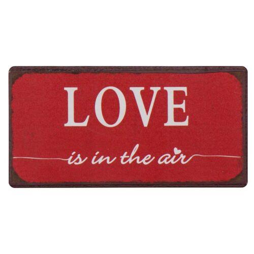 "IB Laursen Magnet /""LOVE is in the air/"" Metall Schild"