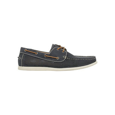 NEW Kenji Malone PU Boat Shoe Navy