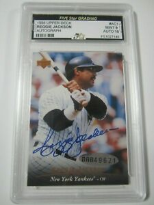 Details About 1995 Upper Deck Ac1 Reggie Jackson Signed Autographed Baseball Card Mint 9