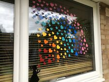 GIRL BLOWING RAINBOW HEARTS BANKSY INSPIRED WINDOW STICKER PACK DESIGN YOUR OWN
