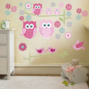Great Image Is Loading Childrens Cute Owls Twit Twoo Wall Stickers Decals  Part 30