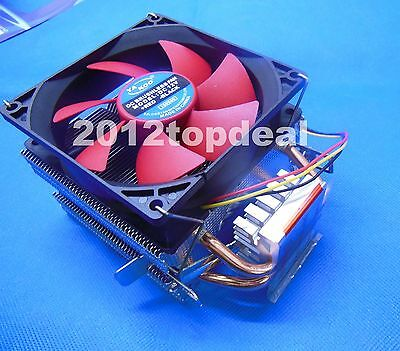 Dual Fan CPU Cooling Heatsink PC Cooler for AMD AM2 + AM3 + FM1 FM2 LGA 1156 775