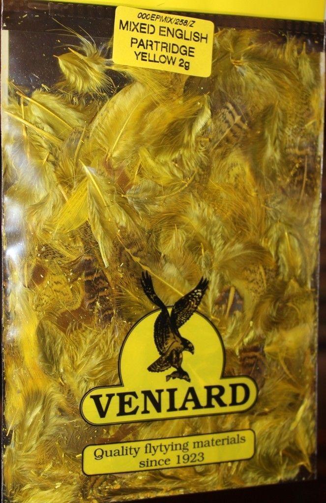 Veniard English Partridge Mixed Feathers Back Flank Shoulder 2g EPMIX