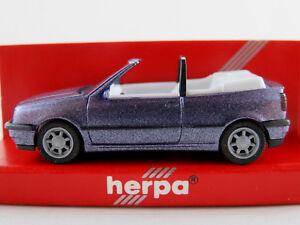 Herpa-031547-VW-Golf-III-GL-cabriolet-1993-en-lila-metalizado-1-87-h0-nuevo-en-el-embalaje-original