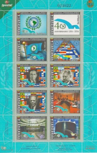 Venezuela 2004 Parlament Emblem Flags and Maps People Sc 1637 MNH