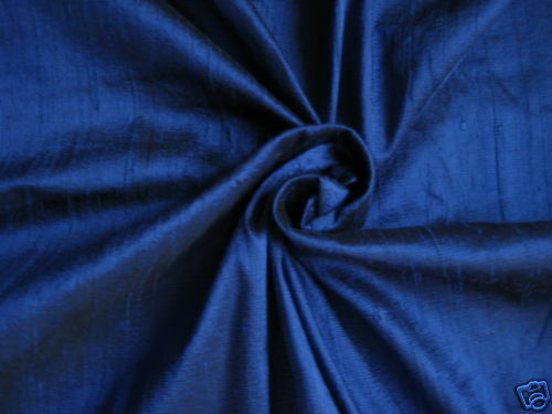 ROYAL BLUE 100/% DUPIONI SILK FABRIC YARDAGE By the Yard Quilt Sew Drapery