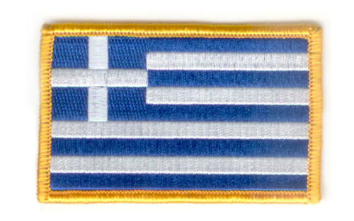 GREECE GREEK  FLAG PATCH PATCHES BADGE IRON ON NEW EMBROIDERED