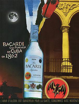 Publicité Advertising 2002  RHUM BACARDI SUPERIOR  Cuba en 1862