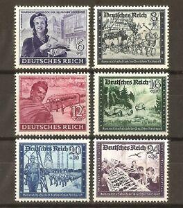 DR-Nazi-3rd-Reich-RARE-WW2-Stamp-Hitler-Jugen-Glider-School-Girl-WWagen-Off-Road