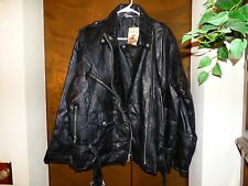 Men Leather Motorcycle Jacket Black by Flight Path Sz L Rn#107860 ...
