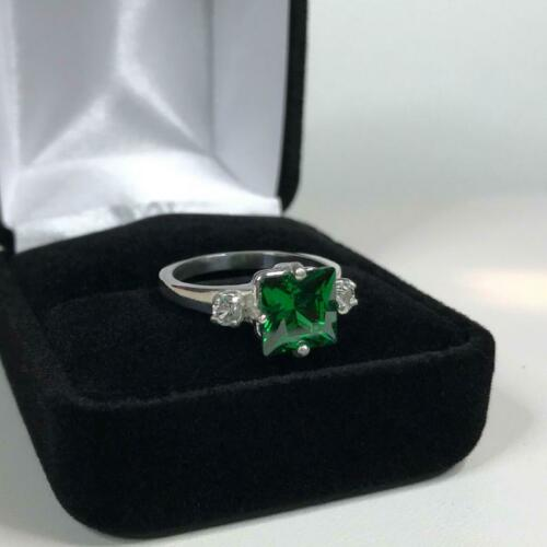 Details about  /925 Sterling Silver Natural Certified 3 Ct Emerald Cushion Shape Cluster Ring