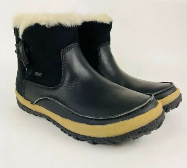 best website detailed pictures cheaper Merrell Womens Tremblant Mid Polar Waterproof Boots Black Sports ...