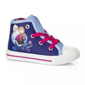 Details zu Die Eiskönigin Disney Frozen Schuhe Sneakers in blau weiß für Mädchen Größe 24